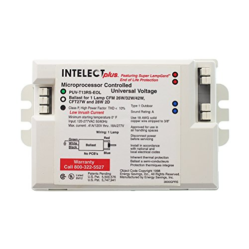 Power Compact Ballast (Intelect-Plus PUV-T13RS-EOL Compact Flourescent Ballast, (1) CFL 42W, 120/277V)
