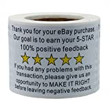 """Hybsk 2""""x3"""" eBay Thank You For Your Purchase Feedback Shipping Labels Adhesive Label"""