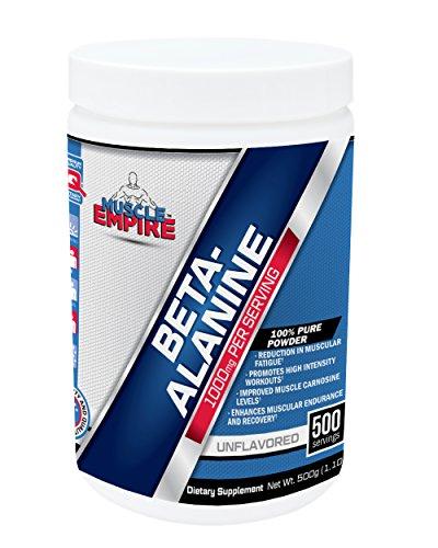 Poudre de bêta-Alanine (500 grammes) - Muscle Empire suppléments