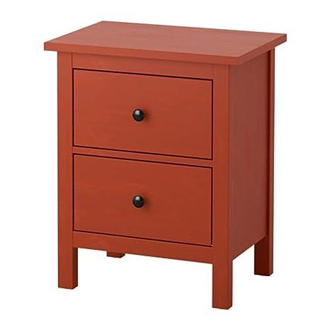 Ikea Hemnes 603.113.01 - Cajonera con 2 cajones, Color Rojo ...