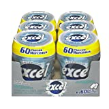 Excel Sugar-Free Gum, Polar Ice, 60pc Bottle, 6 Count