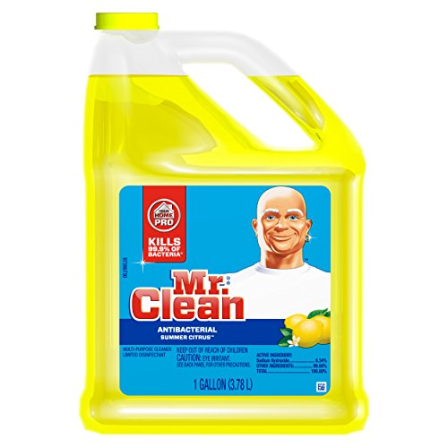 Mr. Clean Multi-Surfaces Summer Citrus Antibacterial Liquid Cleaner, 128 Fluid Ounce (Antibacterial Multi Purpose Cleaner)
