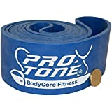 Protone pull-up assistance / resistance loop bands - for assisted pull ups / power lifting / weight lifting / crossfit / home fitness - blue - heavy