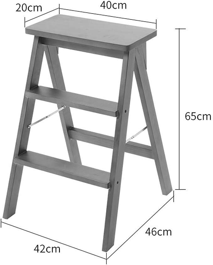 QQXX GBXX Moda Creativa Muebles pequeños Taburete Antideslizante Minimalista Moderno Escalera Plegable multifunción Taburete de Madera Taburete Moda Hogar Multifunción Hogar Creativo: Amazon.es: Hogar