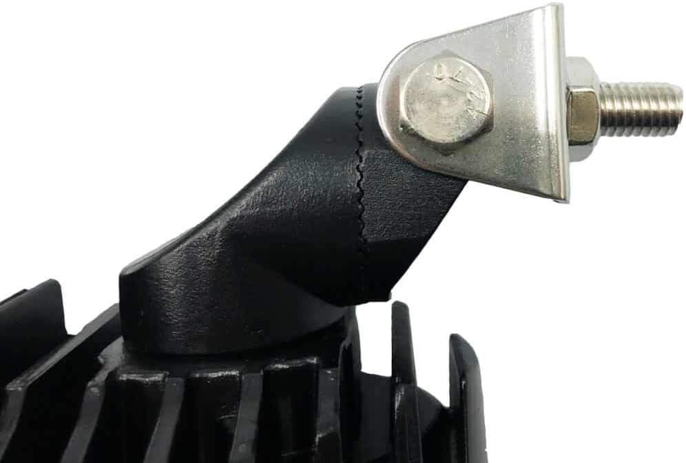 CRAWER Arbeitsscheinwerfer oval 40 Watt verstellbar 6.000K 3200 Lumen Kaltwei/ß Offroad arbeitslicht arbeitsleuchte LED Leuchte lampe scheinwerfer IP67 CISPR Klasse 4 high intensity CREE XTE LEDs
