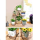 Wrought iron/european-style wrought iron/floor metal flower racks/living room balcony flower-B