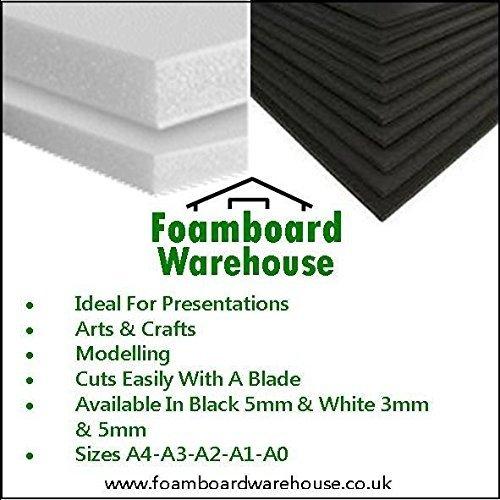 A3 White Foamboard 5mm 297 x 420mm Packed 10s Foamboard Warehouse