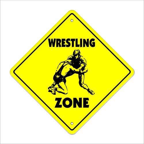 Wrestling Crossing Sign Zone Xing | Indoor/Outdoor | 14