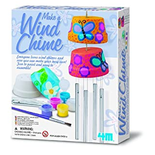 4M 4824 Make A Wind Chime Kit - Arts & Crafts Construct & Paint A Wind Powered Musical Chime DIY Gift for Kids, Boys & Girls