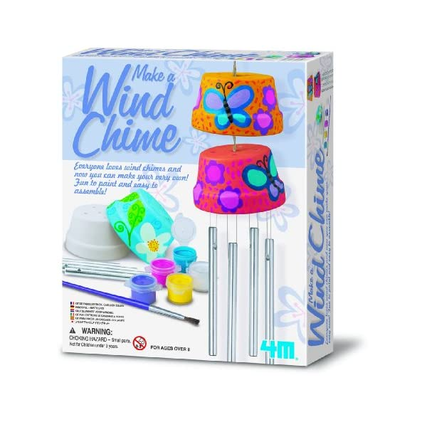 4M Make A Wind Chime Kit – Arts & Crafts Construct & Paint A Wind...