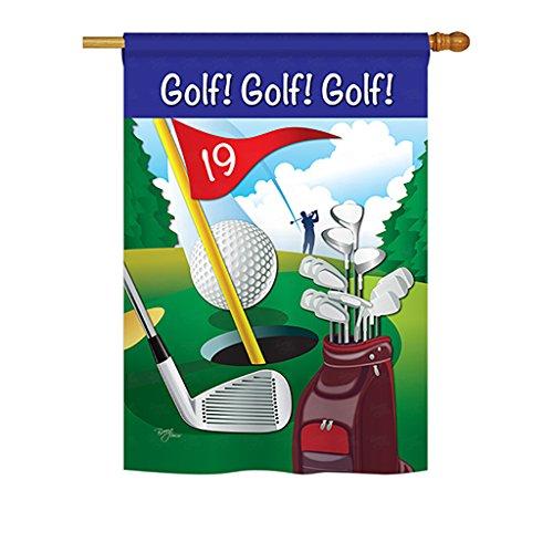 Breeze Decor H109043, Golf Decorative Vertical Garden Flag, 28