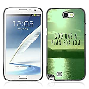 Bible Case Cover Samsung Galaxy Note 2 II / GOD HAS A PLAN FOR YOU /