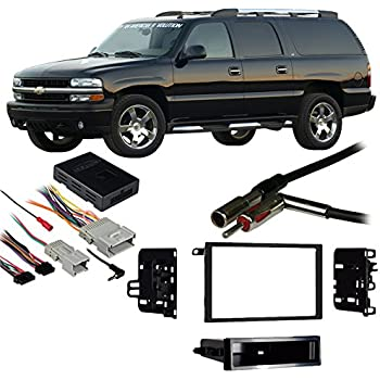 compatible with chevy suburban 2003 2006 double din harness radio install dash kit. Black Bedroom Furniture Sets. Home Design Ideas