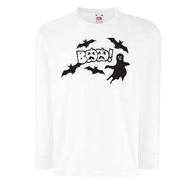 09fd64213e773 lepni.me T-Shirt Enfants des Manches Longues BAAA! - Funny Halloween ...