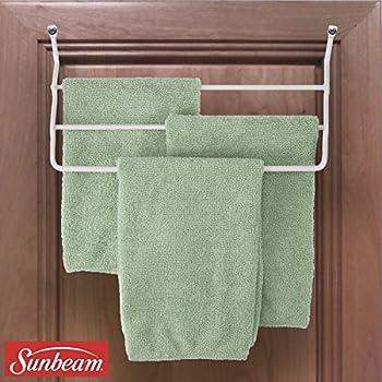 Amazon Com Sunbeam 3 Arm Towel Rack Wall Or Cabinet Mounted Bars
