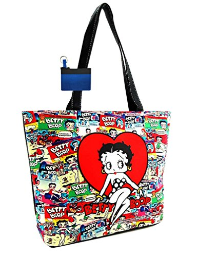 Betty Boop Cartoon Collage Shoulder Bag, Tote Style (Betty Boop Large Tote)