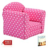 Kids Chair Sofa Armchair Pink Portable Toddler Seat Girls Playing Soft Comfortable & eBook by AllTim3Shopping