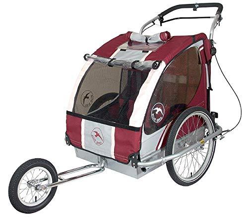 Blue Bird Remolque de Bicicleta para Transportar 2 niños con ...