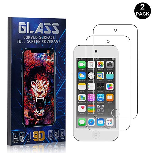 iPod Touch 5th / 6th Screen Protector Tempered Glass, Bear Village Scratch Resistant HD Screen Protector Film for iPod Touch 5th / 6th - 2 Pack