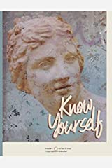 """Know Yourself: Vintage Lined Notebook with Inspirational Quotes. Extra Large Journal for Women (8.5"""" x 11"""") (Ancient Greece Journals) Paperback"""