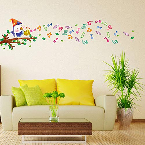 Wall Sticker SoungNerly Personality Creative Living Room Bedroom Children's Room Cartoon Cute TV Background Wallpaper Sofa Wall Anime Notes