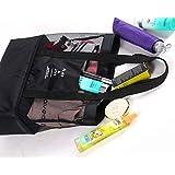 MEJOY Handheld Lunch Bag Insulated Cooler Picnic Bag Mesh Beach Tote Bag Food Drink Storage black