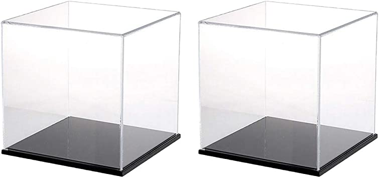 B Blesiya 2X Vitrina Exhibidor Caja de Acrílico para Figura de ...