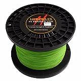 Cheap HERCULES 1500m 1640yds Fluorescent Green 10lbs-300lbs Pe Braid Fishing Line 8 Strands (200lb/90.7kg 0.75mm)