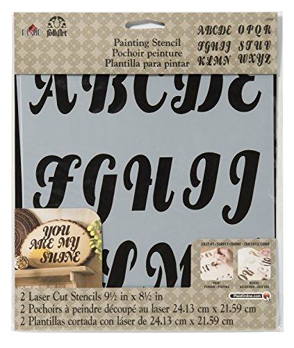 FolkArt Painting Stencil, 8.5 by 9.5-Inch, 30944 Alphabet Beverly (Children Letter Stencils)