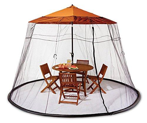 Patio Umbrella Netting: Umbrella Mosquito Net Canopy Patio Set Screen House Black