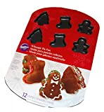 Whoopie Pie Pan 3.35''X0.5''-12 Cavity Tree, Stocking and Gingerbread