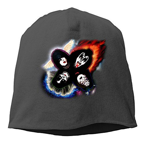 [Knit Caps Beanie Hats Kiss Rock Band Trendy Soft Adult] (80s Rock Costumes)