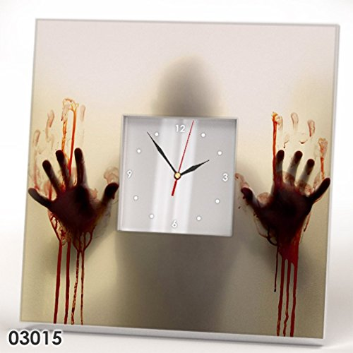 The Walking Dead Wall Clock Mirror Comics Zombie Fan Art TV Horror Home Design Teen Room Decor Gift