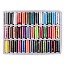 Soledi® High Quality 39pcs in One 39 Colors Polyester Excellent Sewing Textile Embroidery Thread Spools Machine Sewing Kit Set Hand Machine 164 Yard Multi Color Gift Hot