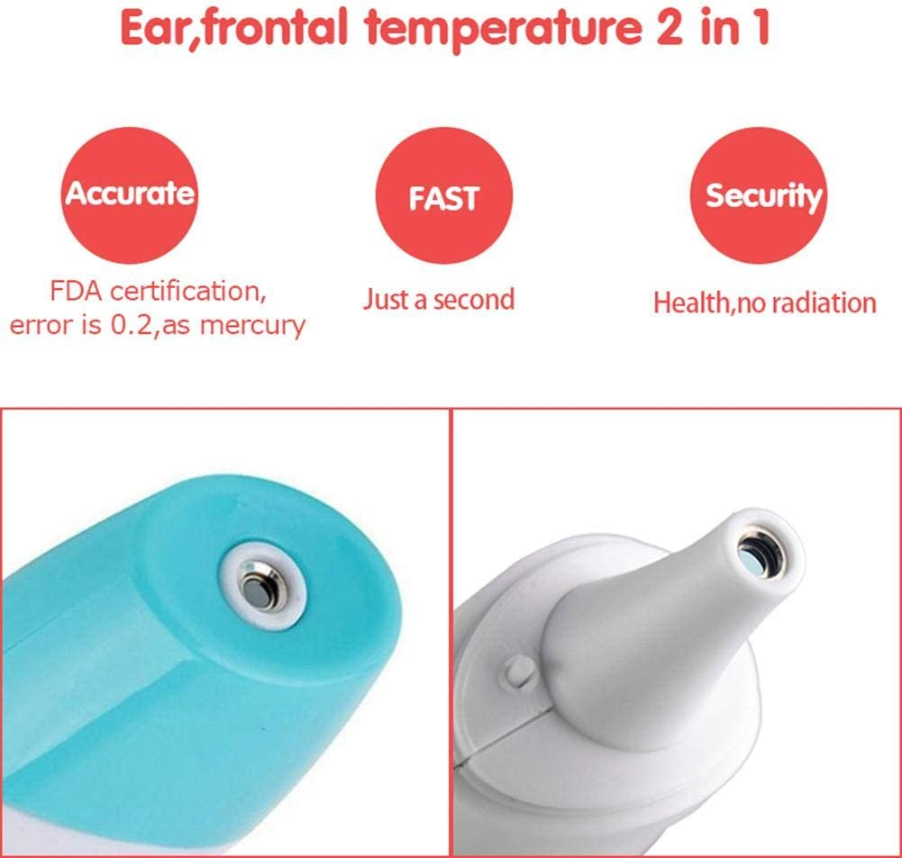 DREAMALVA Baby Thermometer 8 in 1 LCD Screen Digital Medical Infrared Babies Ear Thermometer for Baby