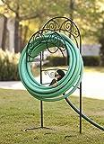 Liberty Garden Products 640 Carrington Decorative Metal Garden Hose Stand - Black