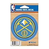 NBA Denver Nuggets WCR66683091 Round Vinyl Decal, 3'' x 3''