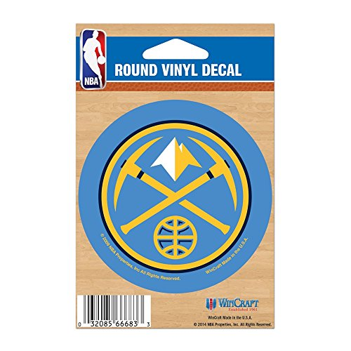 NBA Denver Nuggets WCR66683091 Round Vinyl Decal, 3'' x 3'' by WinCraft