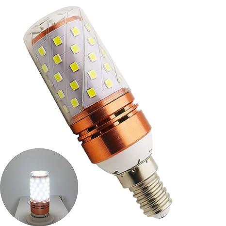 Bombillas LED E14 de maíz, luz blanca fría, 12 W, 6000 K,
