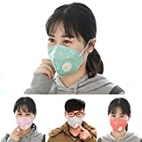 VONOTO 4PACK Unisex Dust Allergy Flu Masks Washable Activated Carbon Cotton Breath Healthy Safety Respirator Warm Ski Cycling Half Face Mouth Masks Filters Dust Pollen Allergens Flu Germs