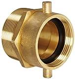 Moon 363-2523061 Brass Fire Hose Adapter, Pin Lug Swivel, 2-1/2 NH Swivel Female x 3'' NPT Male