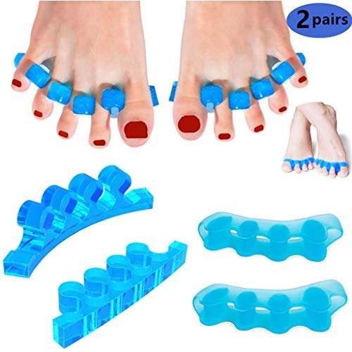 Gel Toe Separators, Pedicure Toe Spacers Straighteners to Correct Bunions Relief on Hammor Toe, Shoe Stretcher House Shoes for Women and Men