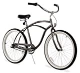 Firmstrong Urban Man 3-Speed Beach Cruiser Bicycle, 26-Inch, Matte Grey