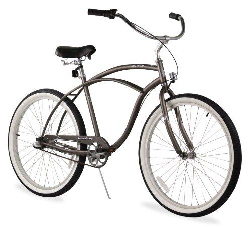 Firmstrong Urban Man 3-Speed Beach Cruiser Bicycle, 26-Inch, Matte Grey