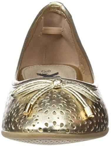 XTI 046609, Bailarinas con Punta Cerrada para Mujer Dorado (Oro)
