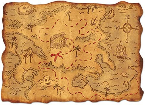 picture of Plastic Treasure Map Party Accessory (1 count) (1/Pkg