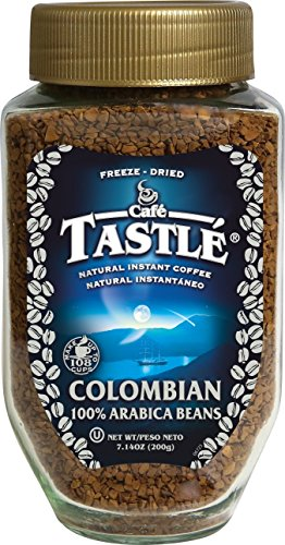 Cafe Tastle Colombian 100% Arabica Instant Coffee, 7.14 Ounce