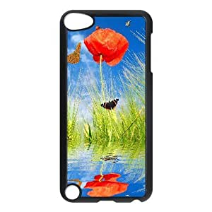 For SamSung Galaxy S4 Mini Phone Case Cover Spring Poppy Flowers And Butterflies Hard Shell Back Black For SamSung Galaxy S4 Mini Phone Case Cover 300430