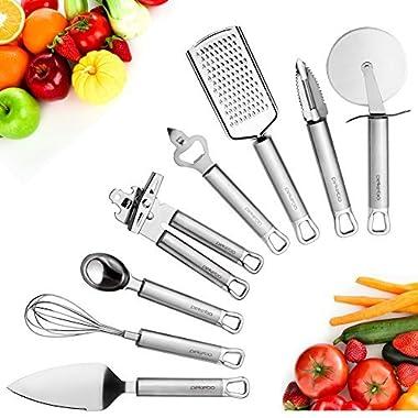 pekebo 8 Piece Stainless Steel Kitchen Tools Set