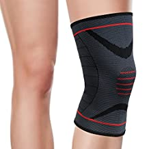 OMorc Knee Sleeve, Compression Knee Pad - Elastic Knee Wraps - Provide Protector and Support for Patella - Best for Basketball, Running, Crossfit, Weightlifting, Hiking and Other Sports&Outdoor Activities